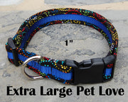 X-Large Dog Love Dog Collar | Stitchpet