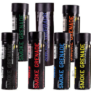 7 Pack of Enola Gaye Wire Pull Smoke Simulators - Colored Smoke Bombs