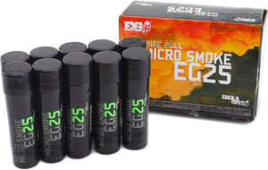ENOLA GAYE Smoke Grenade EG25 Smoke Photography / Gender Reveal / Airsoft / Paintball - 10 Pack Green