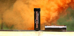 ENOLA GAYE Smoke Simulator WP40 Smoke Photography / Gender Reveal / Airsoft / Paintball - Orange 3 Pack