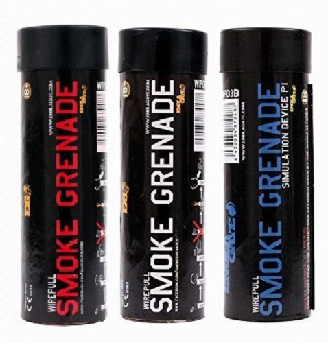ENOLA GAYE Smoke Simulator WP40 Smoke Photography / Gender Reveal / Airsoft / Paintball - 1 BLUE, 1 RED, WHITE - 3 Pack