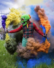 Load image into Gallery viewer, ENOLA GAYE Smoke Grenade Burst Smoke Photography / Gender Reveal / Airsoft / Paintball - Paintball - 4 PacK Red Yellow Green Orange