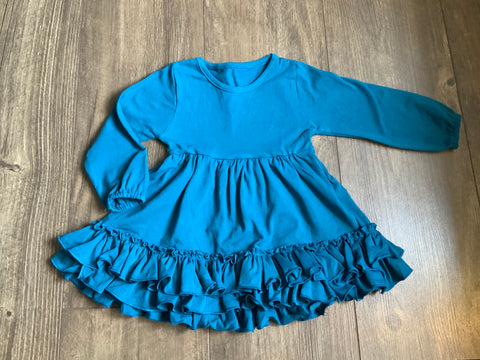 Teal Ruffle Hem Tunic - Salt Threads