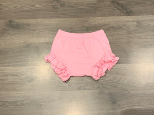Solid Light Pink Ruffle Bummies