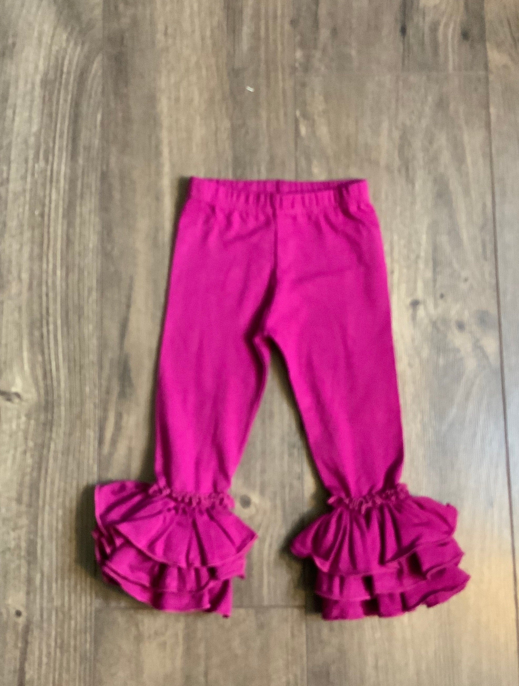 Solid Plum Truffle Pants