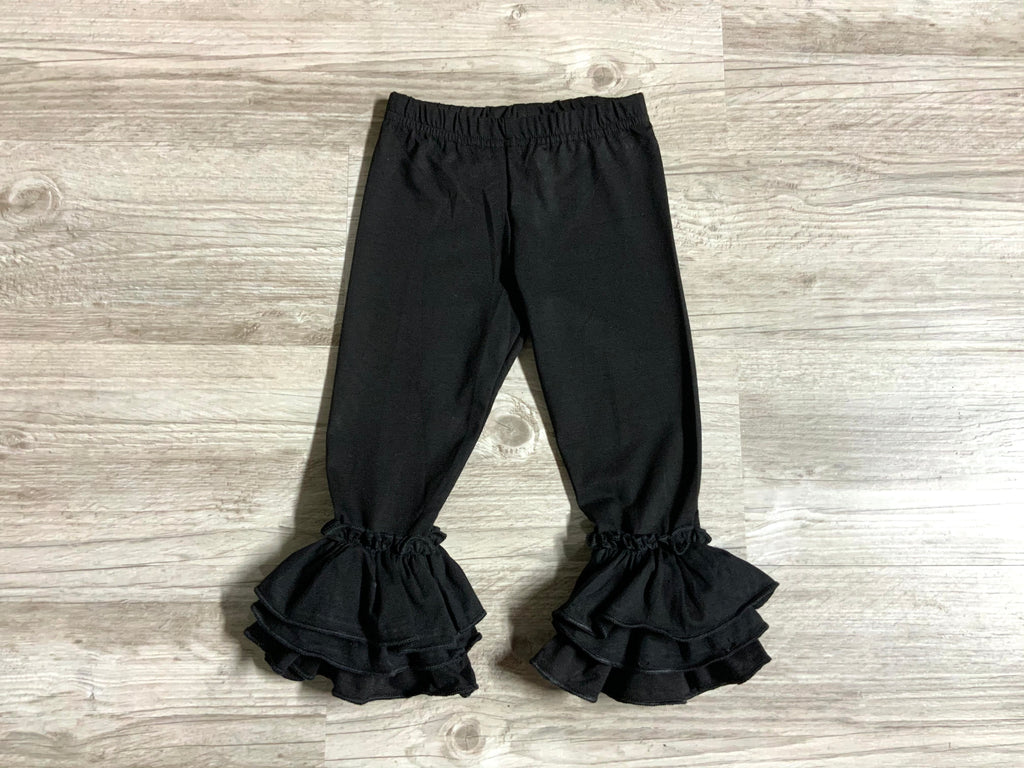 Solid Black Truffle Pants