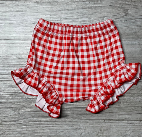 Gingham Ruffle Bummies