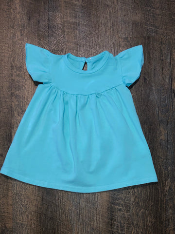 Aqua Button Back Pearl Tunic - Salt Threads