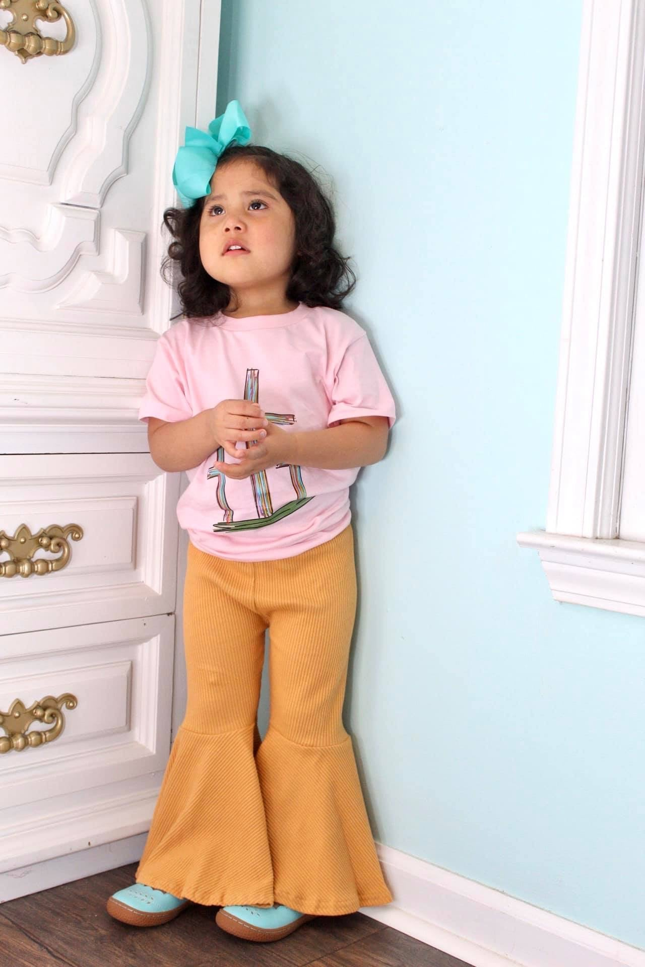 Yellow Gold Big Bell Pants