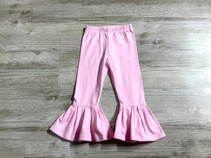 Solid Pink Bell Pants