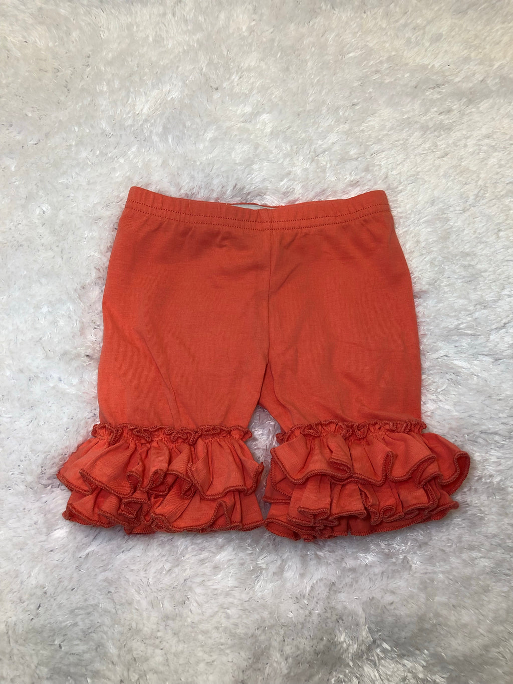 Coral Double Ruffle Shorts