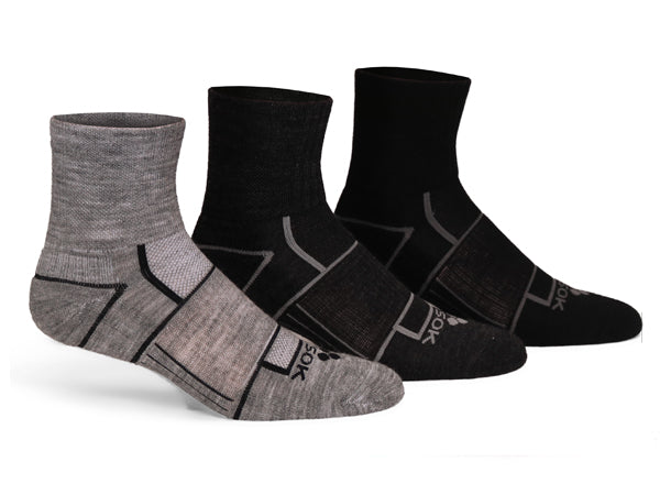 Copy of ISW Isolwool® Trail Cuff (3 pair pack)  Gray, Charcoal, Black
