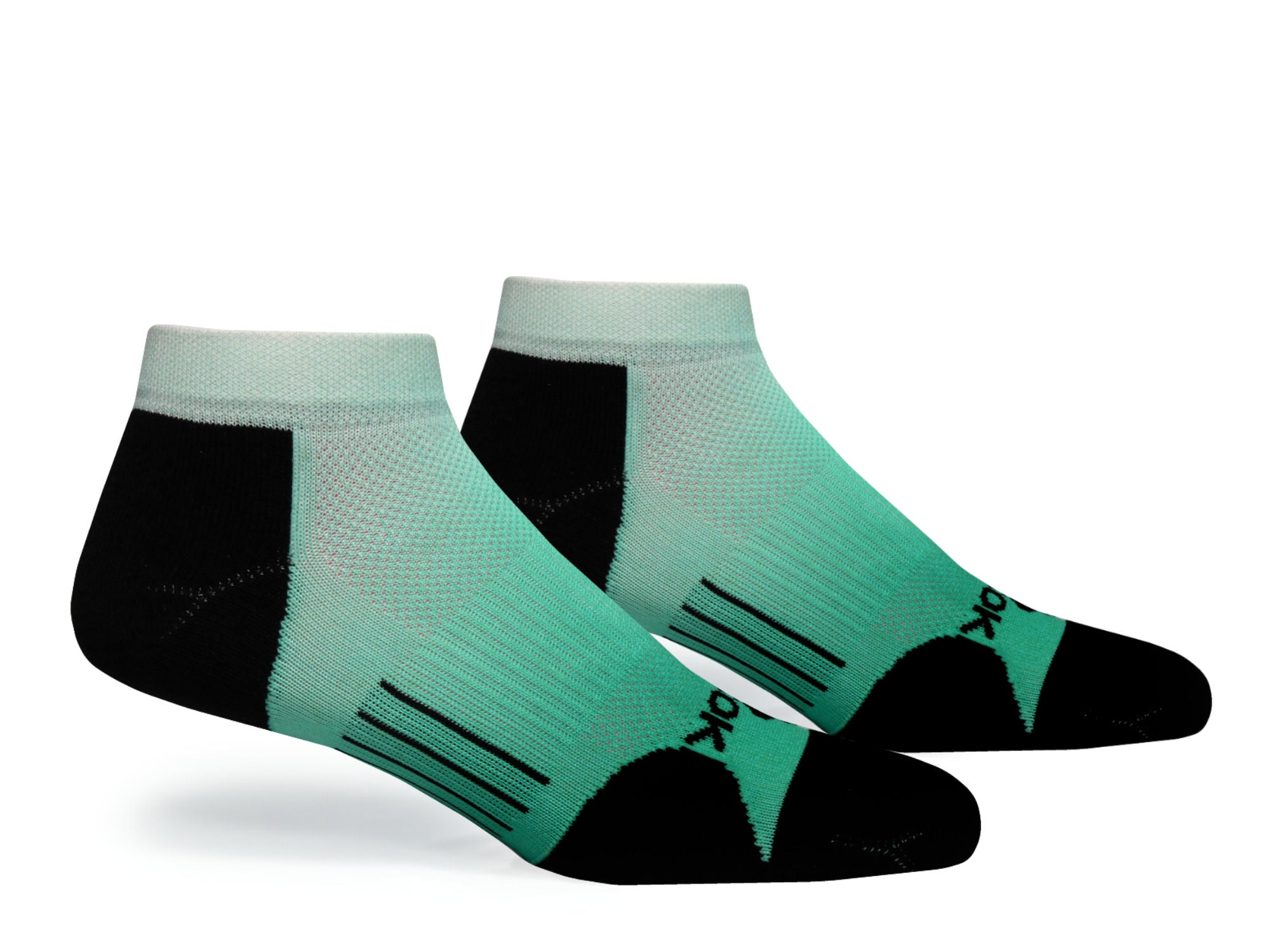 F360 Active Low Cut Green Fade (1 Pair Pack)