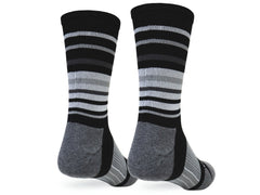 Hyper Stripe Crew (Black & Grey Single Pair)