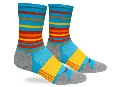 Hyper Stripe Crew (Blue & Yellow Single Pair)