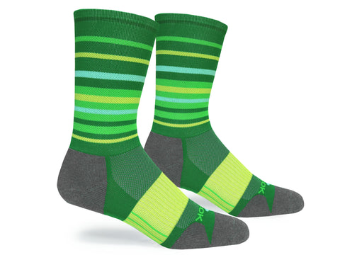 Hyper Stripe Crew (Green & Yellow Single Pair)