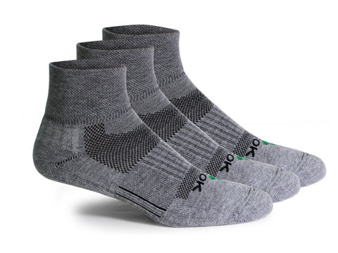 CF2 Cushion Qtr Gray (3 pair pack) - Fitsok.com