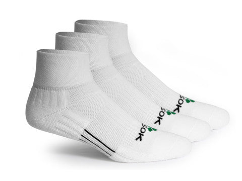 CF2 Cushion Qtr White (3 pair pack) - Fitsok.com