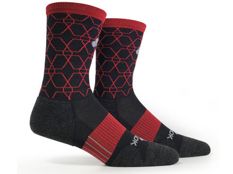LOVE RUN Wool Crew (Black & Red Single Pair)