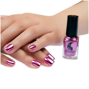 Metallic Nail Polish - Mirror Finish matching-contrast