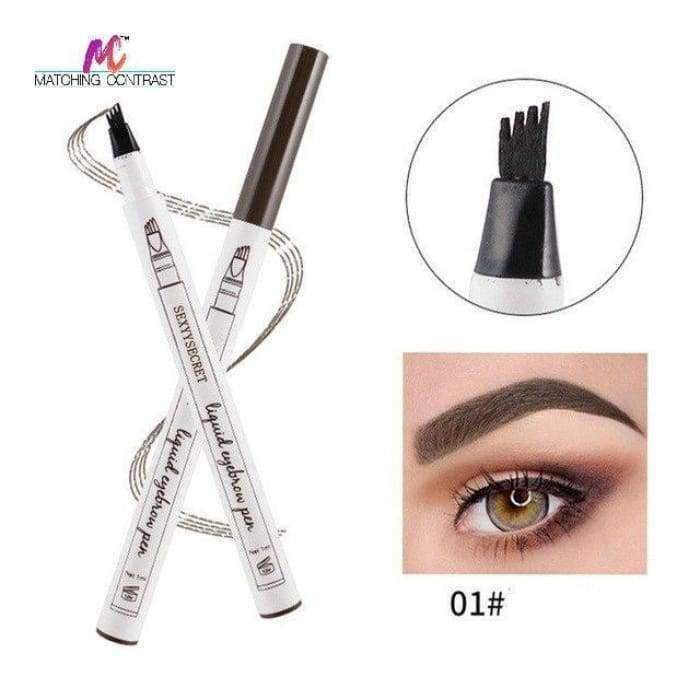Microblading Eyebrow Pen 01 Chestnut matching-contrast