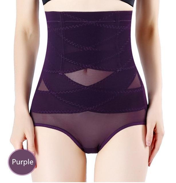 SlimFit™ Cross-brace Shaper Panty Purple / M matching-contrast