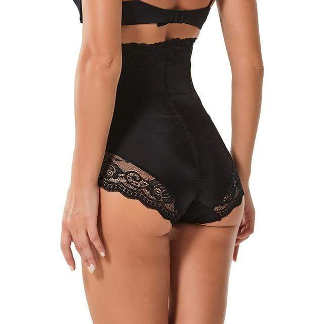 SlimFit™ High Waist Lace Panty Shaper Black / M matching-contrast