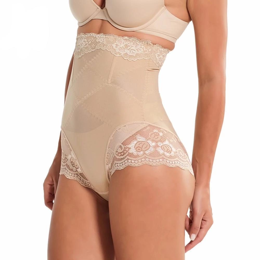 SlimFit™ High Waist Lace Panty Shaper matching-contrast