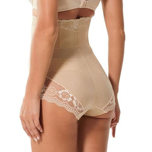 SlimFit™ High Waist Lace Panty Shaper Skin / M matching-contrast