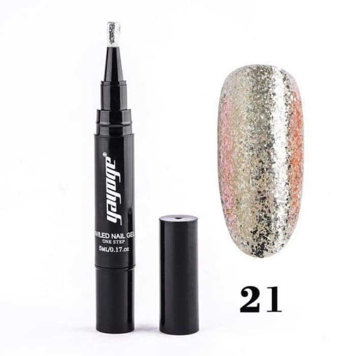 Sparkling Nail Gel Pen 21 matching-contrast