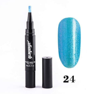 Sparkling Nail Gel Pen 24 matching-contrast