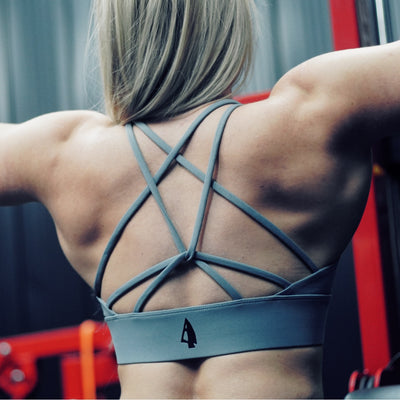 Grey Sports Cross-Bra