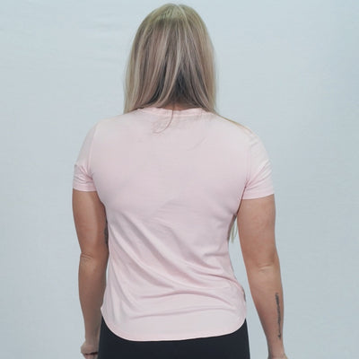 Pink Athletic Live Savage Fitted Tee