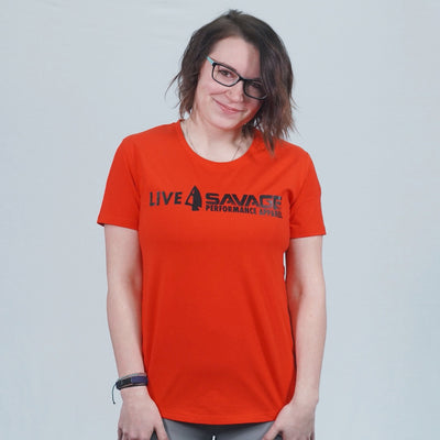Red Athletic Live Savage Fitted Tee