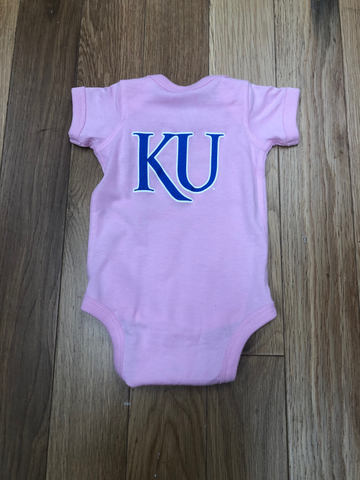 Rock Chalk Arch with KU Back Pink Onsie