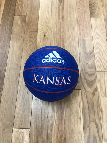 Kansas Jayhawks Adidas Rubber Basketball