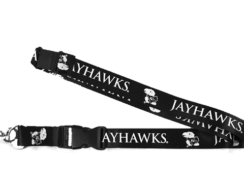 Kansas University Jayhawks Lanyard - Black