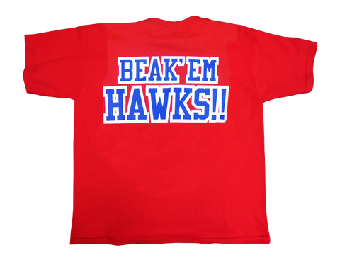 Beak 'Em Hawks Youth Tee - Red