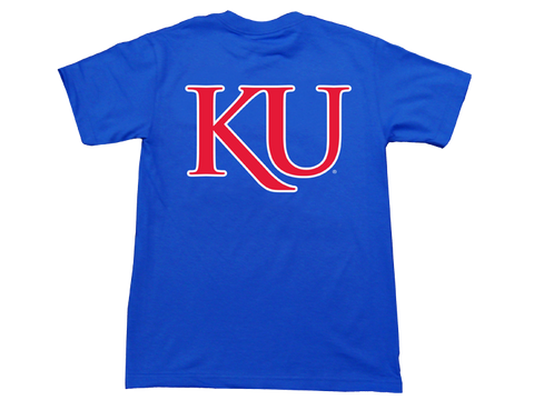 Rock Chalk Arch KU Back Tee - Royal