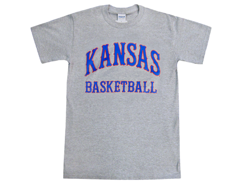 Kansas Basketball Tiffany Arch Tee - Grey