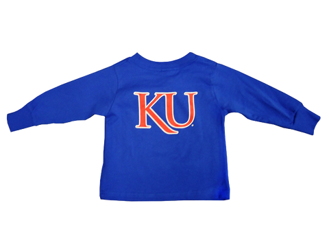 Rock Chalk Arch KU Back Toddler LST - Royal