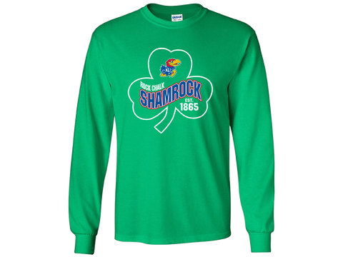 KU Jayhawk Clover Long Sleeve - Green