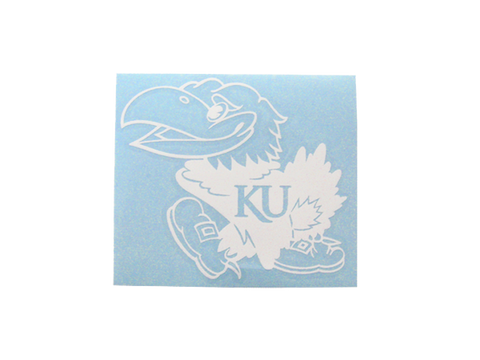 Jayhawk Decal - White
