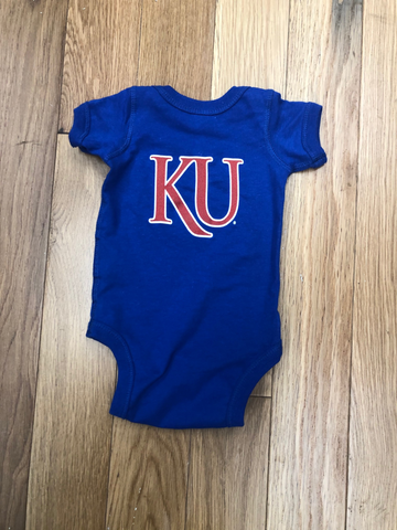 Rock Chalk Arch with KU Back Royal Onsie