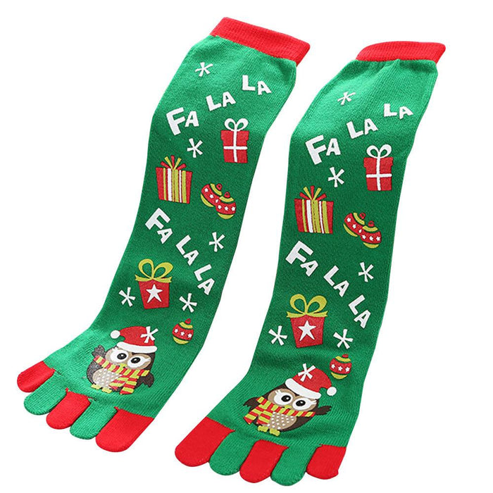 Womens Toe Christmas Socks.