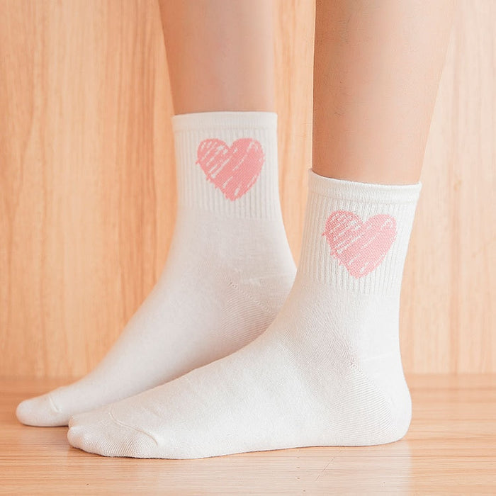 I LOVE YOU Valentine Sock 5 Pair Set