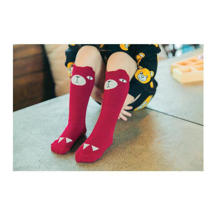 Cute Nosey Bear Socks