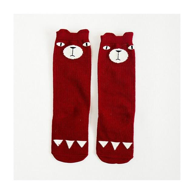 Cute Nosey Bear Baby Socks