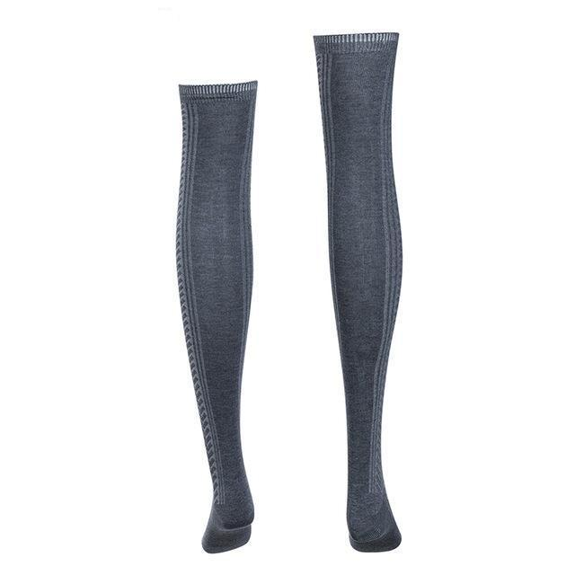 Womens Knitted Mesh Long Stockings