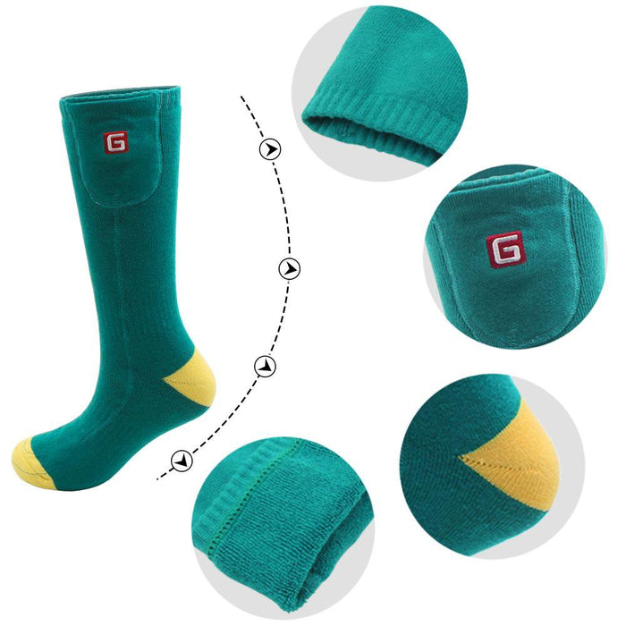 Green Electric Heated Socks
